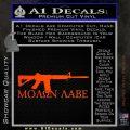 Molon Labe D2 Decal Sticker Orange Emblem 120x120