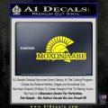 Molon Labe D4 Decal Sticker Yellow Laptop 120x120