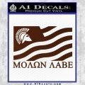 Molon Labe Flag Decal Sticker BROWN Vinyl 120x120