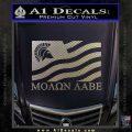 Molon Labe Flag Decal Sticker Carbon FIber Chrome Vinyl 120x120