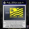 Molon Labe Flag Decal Sticker Yellow Laptop 120x120