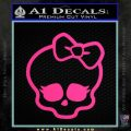 Monster High Skullette Decal Sticker Pink Hot Vinyl 120x120