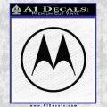 Motorola M Decal Sticker Black Vinyl 120x120