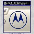 Motorola M Decal Sticker Blue Vinyl 120x120