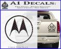 Motorola M Decal Sticker Carbon FIber Black Vinyl 120x97