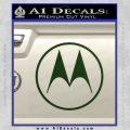 Motorola M Decal Sticker Dark Green Vinyl 120x120