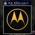 Motorola M Decal Sticker Gold Vinyl 120x120