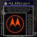 Motorola M Decal Sticker Orange Emblem 120x120