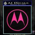Motorola M Decal Sticker Pink Hot Vinyl 120x120