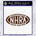 NHRA Championship Racing Decal Sticker BROWN Vinyl 120x120