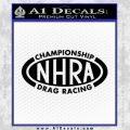 NHRA Championship Racing Decal Sticker Black Vinyl 120x120
