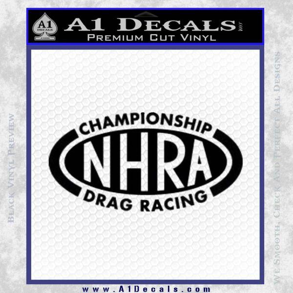 NHRA Championship Racing Decal Sticker Black Vinyl