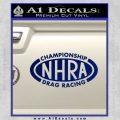 NHRA Championship Racing Decal Sticker Blue Vinyl 120x120