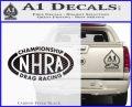 NHRA Championship Racing Decal Sticker Carbon FIber Black Vinyl 120x97
