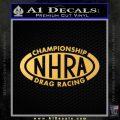 NHRA Championship Racing Decal Sticker Gold Vinyl 120x120