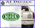 NHRA Championship Racing Decal Sticker Green Vinyl Logo 120x97