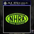NHRA Championship Racing Decal Sticker Lime Green Vinyl 120x120