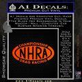 NHRA Championship Racing Decal Sticker Orange Emblem 120x120