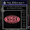 NHRA Championship Racing Decal Sticker Pink Emblem 120x120
