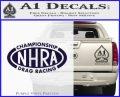 NHRA Championship Racing Decal Sticker PurpleEmblem Logo 120x97