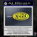 NHRA Championship Racing Decal Sticker Yellow Laptop 120x120