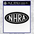 NHRA Oval Decal Sticker Black Vinyl 120x120