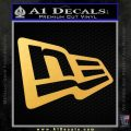 New Era Logo Only Decal Sticker Gold Vinyl 120x120
