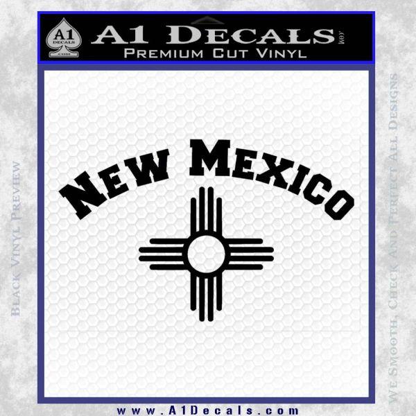 New Mexico Zia Arc Decal Sticker Black Vinyl