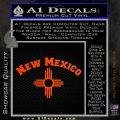 New Mexico Zia Arc Decal Sticker Orange Emblem 120x120