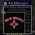 New Mexico Zia Arc Decal Sticker Pink Emblem 120x120