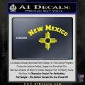 New Mexico Zia Arc Decal Sticker Yellow Laptop 120x120