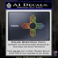 New Mexico Zia Symbol Decal Sticker Glitter Sparkle 120x120