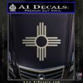 New Mexico Zia Symbol Decal Sticker Metallic Silver Vinyl 120x120