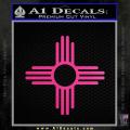 New Mexico Zia Symbol Decal Sticker Neon Pink Vinyl 120x120