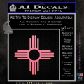 New Mexico Zia Symbol Decal Sticker Soft Pink Emblem 120x120