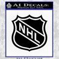 Nhl Shield D1 Decal Sticker Black Vinyl 120x120