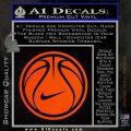 Nike Basketball Decal Sticker Orange Emblem 120x120