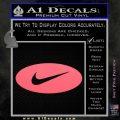 Nike Swoosh Decal Sticker Oval Pink Emblem 120x120