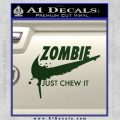 Nike Zombie Just Chew It Decal Sticker Dark Green Vinyl 120x120