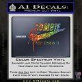 Nike Zombie Just Chew It Decal Sticker Glitter Sparkle 120x120