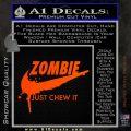Nike Zombie Just Chew It Decal Sticker Orange Emblem 120x120