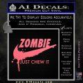 Nike Zombie Just Chew It Decal Sticker Pink Emblem 120x120