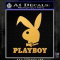 Playboy Bent Floppy Ear Full Decal Sticker Gold Vinyl 120x120