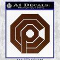 Robo Cop OCP Logo Decal Sticker BROWN Vinyl 120x120