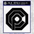 Robo Cop OCP Logo Decal Sticker Black Vinyl 120x120