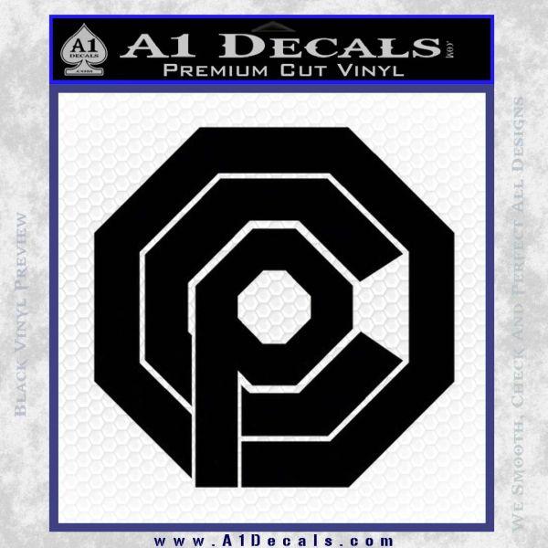 Robo Cop OCP Logo Decal Sticker Black Vinyl
