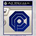 Robo Cop OCP Logo Decal Sticker Blue Vinyl 120x120