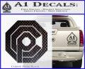Robo Cop OCP Logo Decal Sticker Carbon FIber Black Vinyl 120x97
