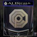 Robo Cop OCP Logo Decal Sticker Carbon FIber Chrome Vinyl 120x120