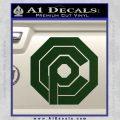 Robo Cop OCP Logo Decal Sticker Dark Green Vinyl 120x120